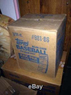 1986 Topps Baseball Card Set 3 Rack Pack Box FACTORY SEALED CASE Rak 6 Wax Box