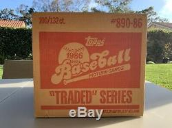 1986 Topps Traded Case (100 Sets) Factory Sealed. Incl Barry Bonds Rookie Card
