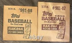 1987 1988 Topps Rack Pack Case Factory Sealed 3/24 Bonds Bo Mcgwire Rookies Psa
