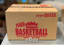 1988-89 Fleer Basketball Wax Case 12 Boxes Factory Sealed Ultra Rare Last Dance