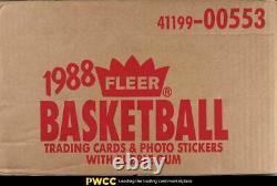 1988 Fleer Basketball Factory Sealed Wax Case with Twelve Unopened Boxes