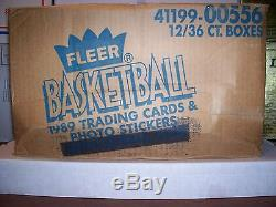 1989-1990 Fleer Basketball 12 Count Wax Box Factory Sealed Unopened Case
