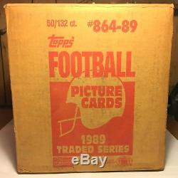 1989 Topps Traded factory-sealed case (50 sets 6,600 cards) Sanders, Aikman RC