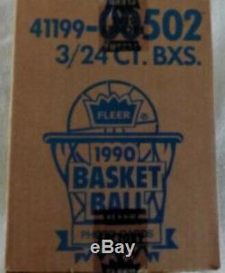 1990-1991 FLEER BASKETBALL 3 BOX FACTORY SEALED RACK CASE-Free Shipping Cont US