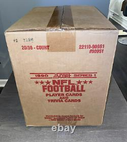 1990 Score NFL Football Series 1 Factory Sealed Case 20 Boxes Seau Rc