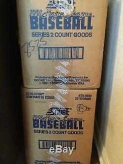 1991 Score Series 2 Factory Sealed Case Blow Out Free Shipping