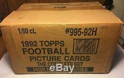 1992 Topps Football High Series SEALED CASE (50 factory complete sets) Favre