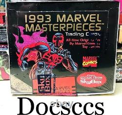 1993 Marvel Masterpieces Trading Card Factory Sealed 36 Pack Box of Case SkyBox