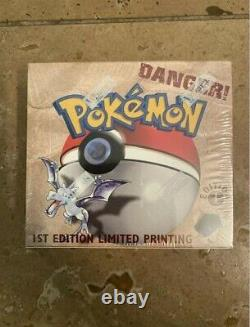 1999 Pokemon 1st Edition Fossil Booster Box Factory Sealed! With Acrylic Case