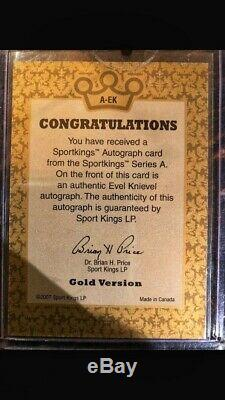 2007 Sport Kings GOLD Evel Knievel Autograph AUTO SEALED Factory Case /10 RARE