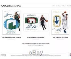 2017-18 Panini Flawless Basketball Hobby 2 Box Case Factory Sealed