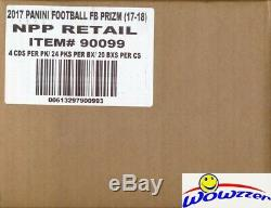 2017 Panini Prizm Football Factory Sealed 24ct Retail 20 Box CASE! SUPER HOT