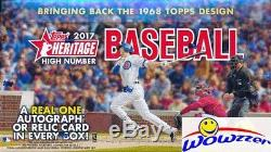 2017 Topps Heritage High Number Baseball Factory Sealed 12 Box HOBBY CASE