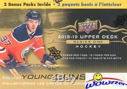 2018/19 Upper Deck Series 1 Hockey Factory Sealed 20 Box CASE-40 YOUNG GUN RCS