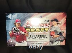 2018 Bowman Draft 8 Box Jumbo Case Factory Sealed 24 Autographs