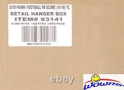 2018 Score Football EXCLUSIVE Factory Sealed 36 Box HANGER CASE-2,160 Cards