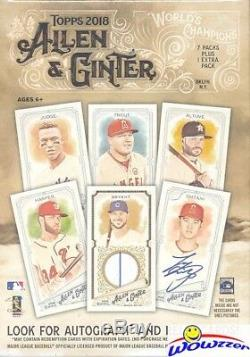 2018 Topps Allen & Ginter Baseball EXCLUSIVE Factory Sealed 16 Box Blaster CASE