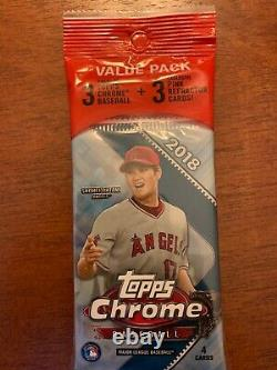 2018 Topps Chrome Baseball Value Fat Pack FACTORY SEALED FROM A NEW BOX CASE