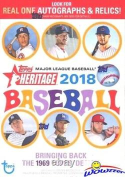2018 Topps Heritage Baseball EXCLUSIVE Factory Sealed 16 Box Blaster CASE-Loaded
