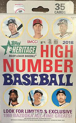 2018 Topps Heritage HIGH NUMBER Baseball Series Factory Sealed 8 Box Hanger Case