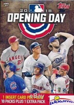 2018 Topps Opening Day Baseball Factory Sealed 16 Box Blaster CASE- HOT