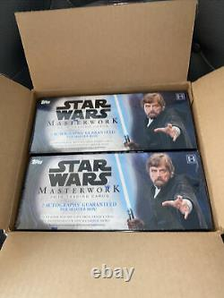 2018 Topps STAR WARS Masterwork Factory Sealed BOX Fresh From Case HOBBY AUTOS