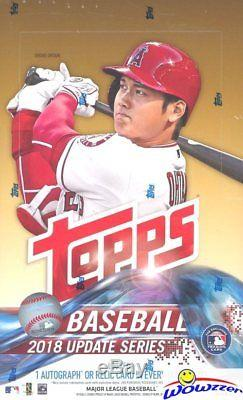 2018 Topps Update Baseball 12 Box Factory Sealed HOBBY CASE-12 AUTOGRAPH/RELIC