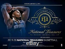 2019-2020 National Treasures Basketball Factory Sealed 4 Box Hobby Case (zion)