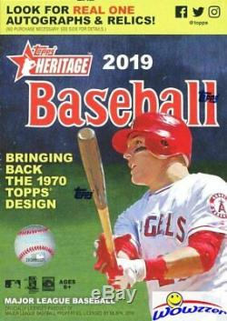 2019 Topps Heritage Baseball EXCLUSIVE Factory Sealed 16 Box Blaster CASE-HOT