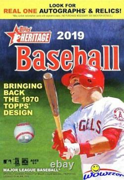 2019 Topps Heritage Baseball EXCLUSIVE HANGER Case with 8 Factory Sealed Boxes