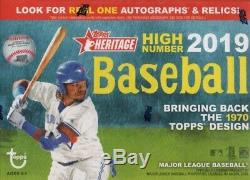 2019 Topps Heritage HIGH NUMBER Baseball Series 16 BLASTER BOX CASE Autographs
