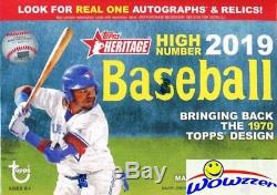 2019 Topps Heritage High Number Baseball Factory Sealed 16 Box Blaster CASE