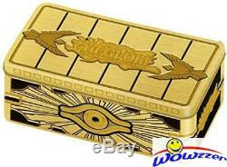 2019 Yugioh TCG Gold Sarcophagus Tins Factory Sealed CASE (12 TINS) on FIRE