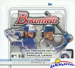 2020 Bowman Baseball 24 Pack Retail Factory Sealed 12 Box CASE-3,456 Cards