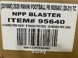 2020 Panini Mosaic Football Cards Factory Sealed 20 Box Blaster Case NFL