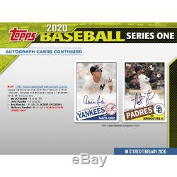 2020 Topps Series 1 6 Jumbo Box Factory Sealed Case Presale Releases Feb 5th
