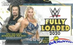 2020 Topps WWE Fully Loaded Factory Sealed 20 Box HOBBY CASE-20 Encased AUTO