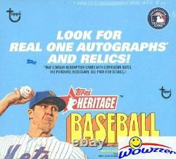 2021 Topps Heritage Baseball 24ct Retail 8 Box Factory Sealed CASE-1,728 Cards