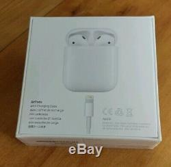 Apple AirPods 2nd Generation with Charging Case -White New Factory Sealed In Box