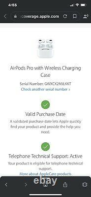 Apple AirPods Pro with wireless charging case NEW IN FACTORY SEALED BOX