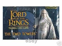 Lotr TCG/CCG The Two Towers FACTORY SEALED CASE of 12 Booster Boxes Box