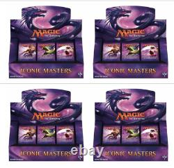 MTG English Iconic Masters Booster Box Factory Sealed Case of 4x Boxes