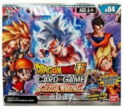 NEW SEALED Dragon Ball Super Colossal Warfare Series 4 Booster Case 12 Boxes