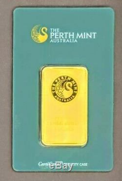 Perth Mint 1 Troy oz. Gold Bar in Factory Sealed Tamper Proof Security Case #106