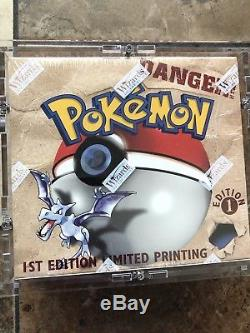 Pokémon 1st Edition Fossil Booster Box Factory Sealed WOTC 1999 MINT Custom Case