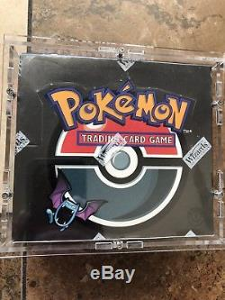 Pokémon 1st Edition Team Rocket Booster Box Factory Sealed 2000 In Display Case