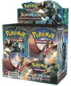 Pokemon BURNING SHADOWS Sun & Moon 1 CASE (6x Booster Boxes) Factory Sealed