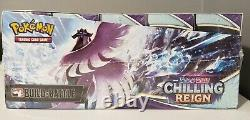 Pokemon Chilling Reign Factory Sealed Build And Battle Display Case 10 Boxes