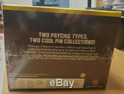 Pokemon Hidden Fates Mew & Metwo Pin Collection Factory Sealed Case of 8 Boxes