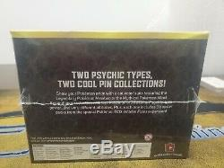 Pokemon Hidden Fates Mew & Mewtwo Pin Collection Factory Sealed Case of 8 Boxes